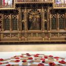Crocheted Poppies on display in the church